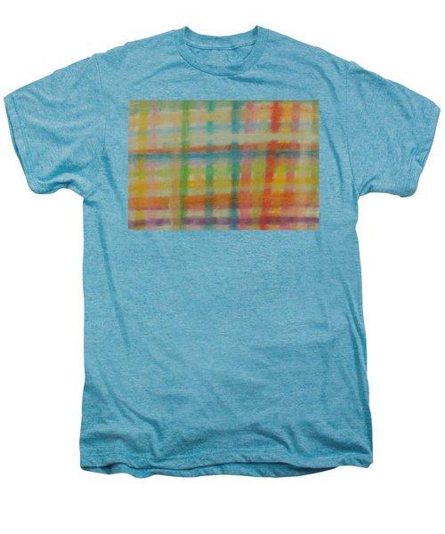 Colorful Plaid Men's Premium T-Shirt