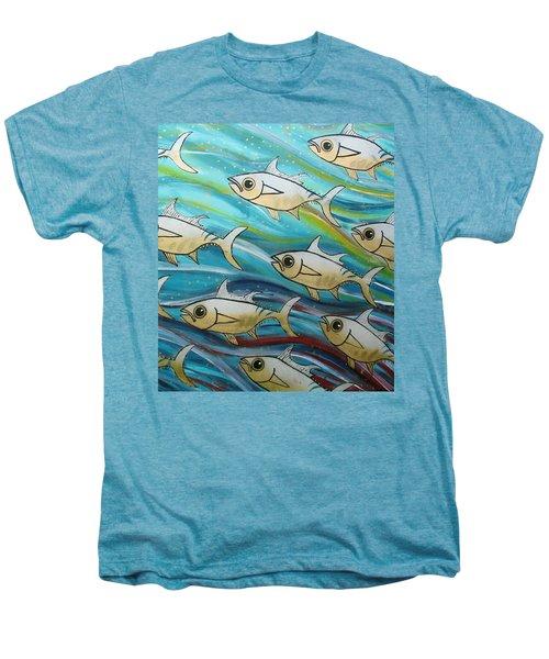 Coloured Water Fish Men's Premium T-Shirt