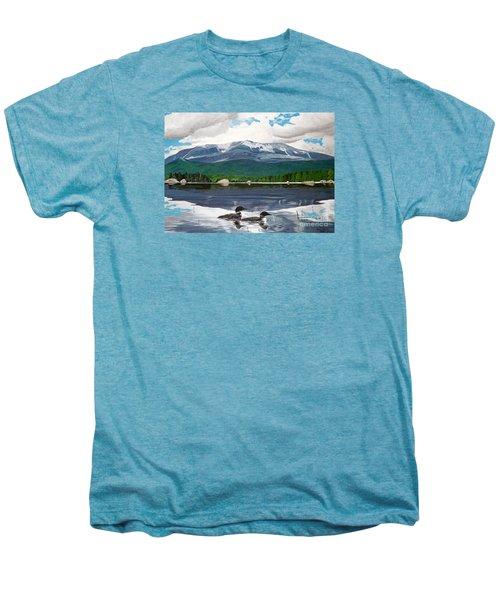 Common Loon On Togue Pond By Mount Katahdin Men's Premium T-Shirt