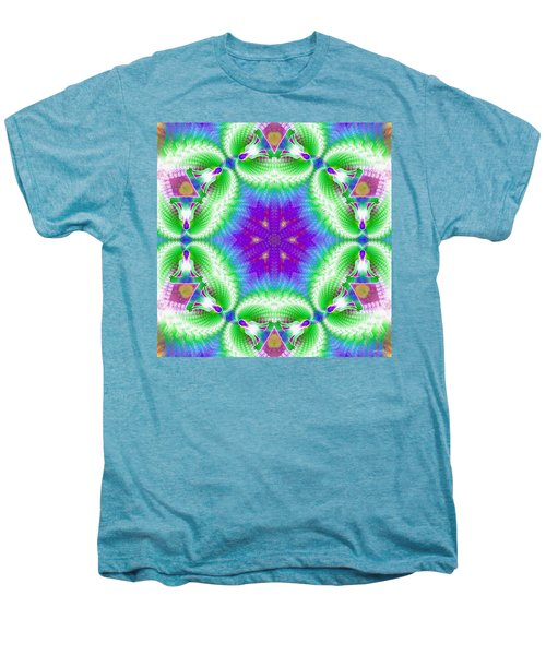 Cosmic Spiral Kaleidoscope 10 Men's Premium T-Shirt