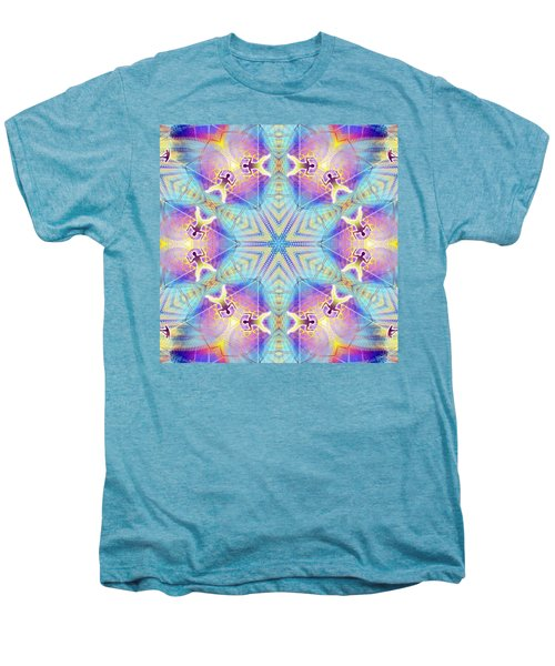 Cosmic Spiral Kaleidoscope 17 Men's Premium T-Shirt