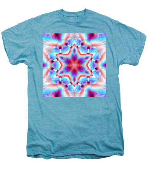 Cosmic Spiral Kaleidoscope 45 Men's Premium T-Shirt