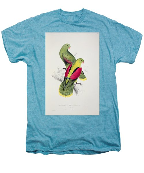 Crimson Winged Parakeet Men's Premium T-Shirt