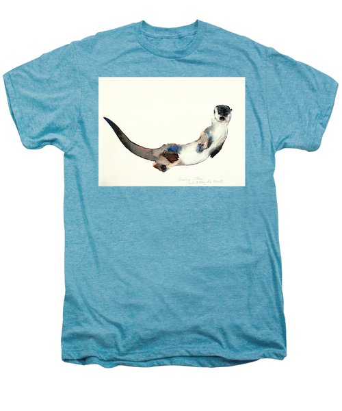 Curious Otter Men's Premium T-Shirt by Mark Adlington