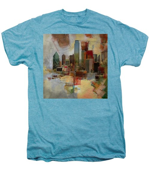 Dallas Skyline 003 Men's Premium T-Shirt by Corporate Art Task Force