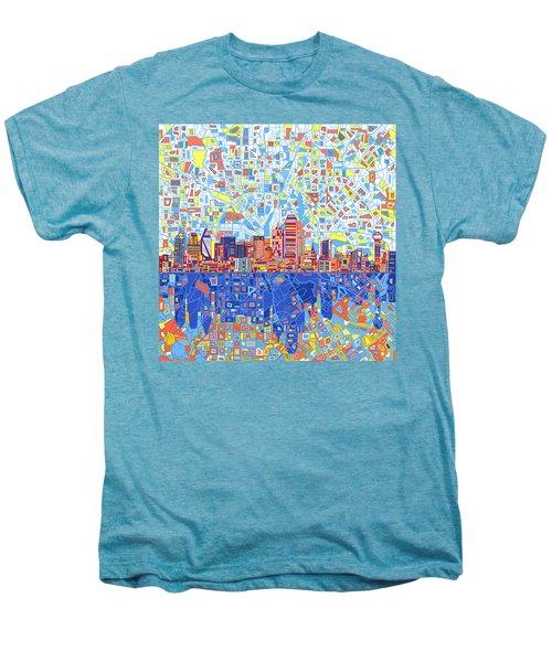 Dallas Skyline Abstract 5 Men's Premium T-Shirt