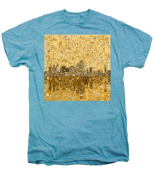 Dallas Skyline Abstract 6 Men's Premium T-Shirt