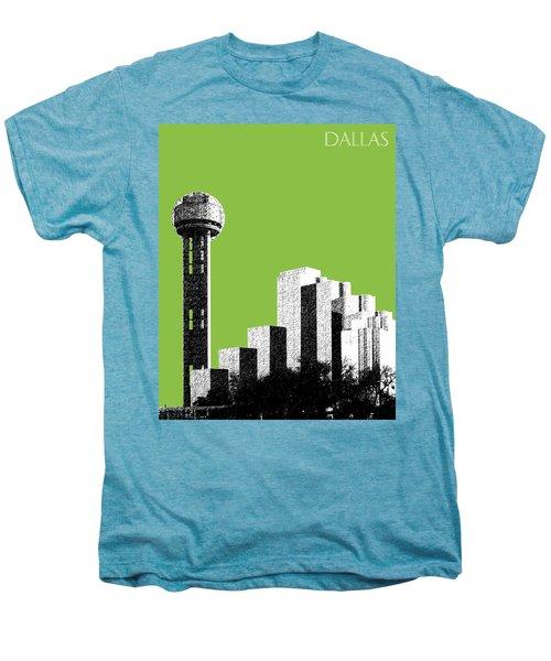 Dallas Skyline Reunion Tower - Olive Men's Premium T-Shirt