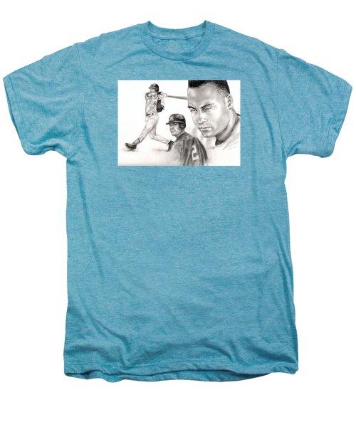 Derek Jeter Men's Premium T-Shirt by Kathleen Kelly Thompson