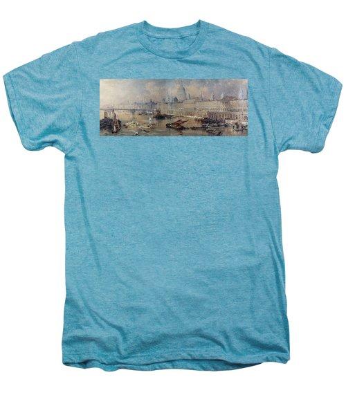 Design For The Thames Embankment Men's Premium T-Shirt by Thomas Allom