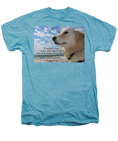 Doggie Soul Men's Premium T-Shirt by Peggy Hughes