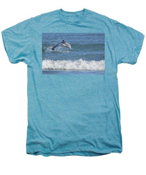 Dolphin In Surf Men's Premium T-Shirt