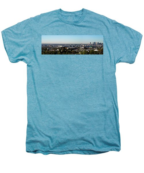 Elevated View Of City, Los Angeles Men's Premium T-Shirt by Panoramic Images