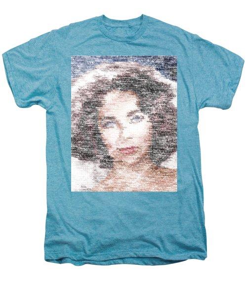 Elizabeth Taylor Typo Men's Premium T-Shirt