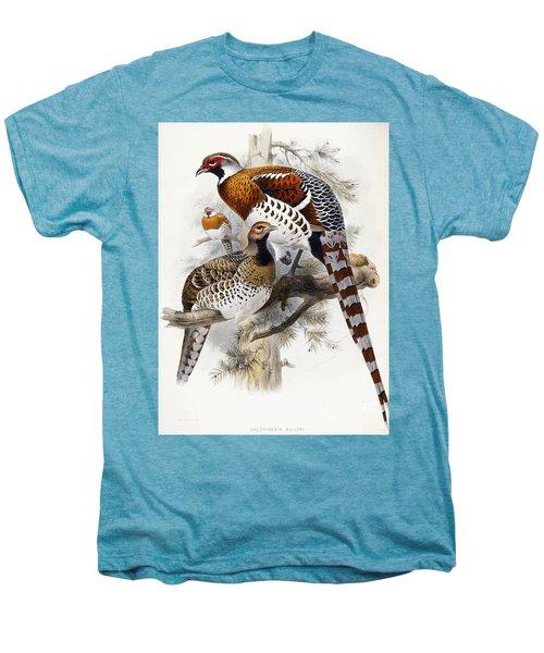 Elliot's Pheasant Men's Premium T-Shirt by Joseph Wolf