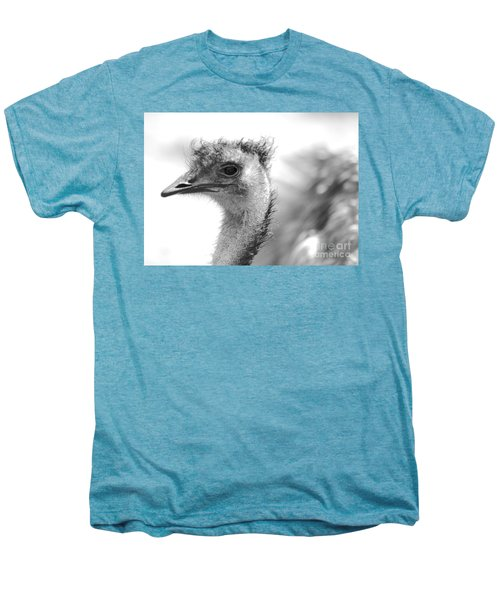 Emu - Black And White Men's Premium T-Shirt by Carol Groenen