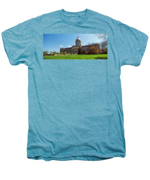 Facade Of State Capitol Building Men's Premium T-Shirt by Panoramic Images