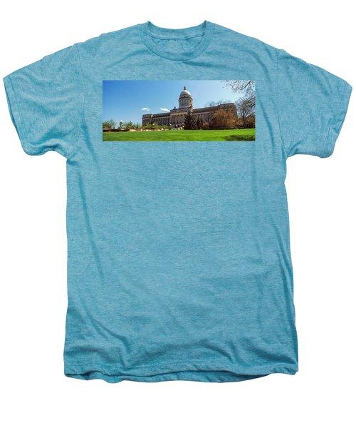 Facade Of State Capitol Building Men's Premium T-Shirt