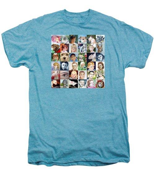 Facebook Of Faces Men's Premium T-Shirt by Irina Sztukowski