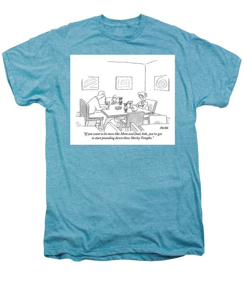 Family Around Table Men's Premium T-Shirt by Jack Ziegler