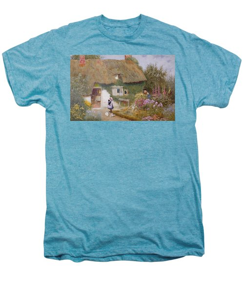 Feeding The Pigeons Men's Premium T-Shirt