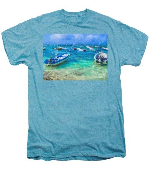 Fishing Boats Men's Premium T-Shirt by Peggy Hughes