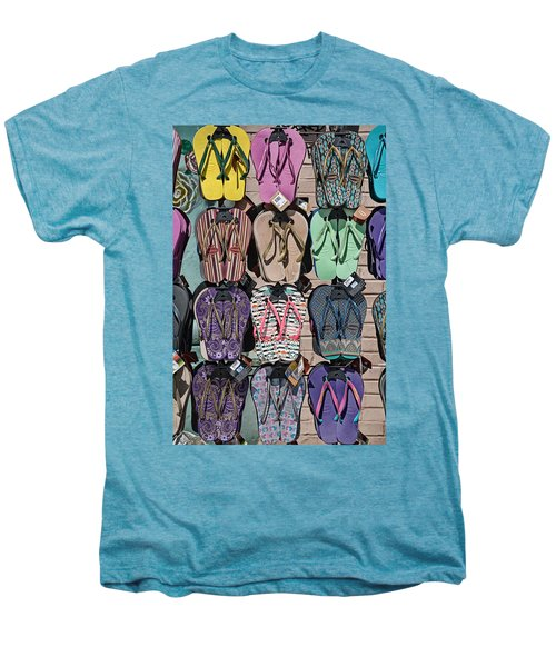 Flip Flops Men's Premium T-Shirt by Peter Tellone