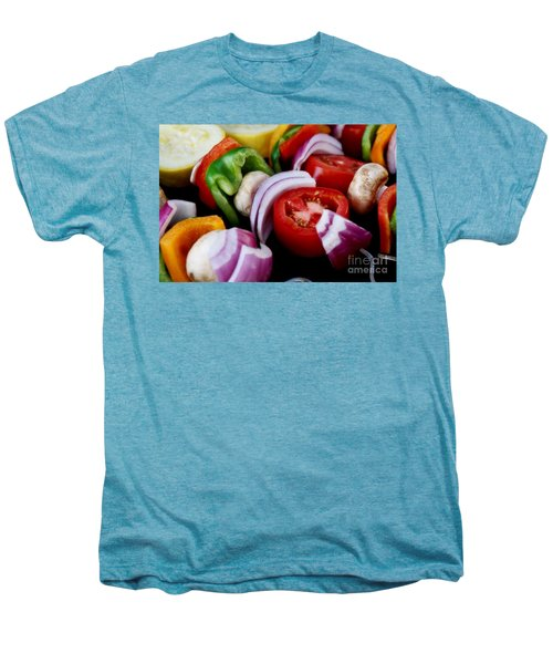 Fresh Veggie Kabobs On The Grill Men's Premium T-Shirt by Peggy Hughes