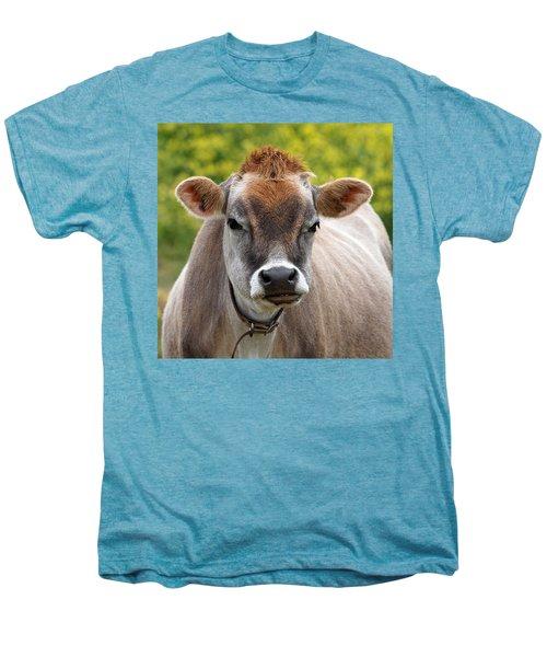 Funny Jersey Cow -square Men's Premium T-Shirt by Gill Billington