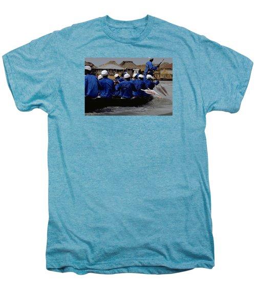Men's Premium T-Shirt featuring the photograph Ganvie - Lake Nokoue by Travel Pics