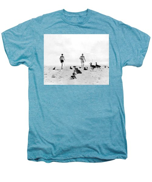 Golf With Gooney Birds Men's Premium T-Shirt by Underwood Archives