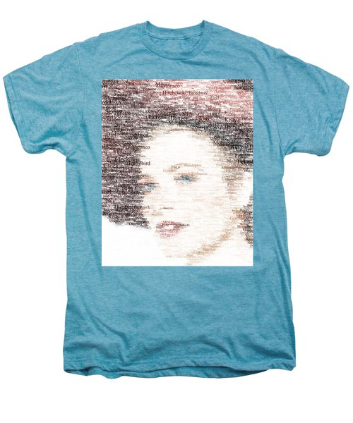 Grace Kelly Typo Men's Premium T-Shirt by Taylan Apukovska