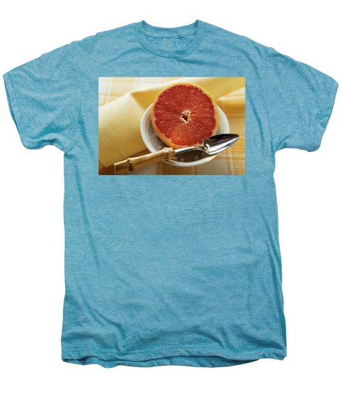 Grapefruit Half With Grapefruit Spoon In A Bowl Men's Premium T-Shirt