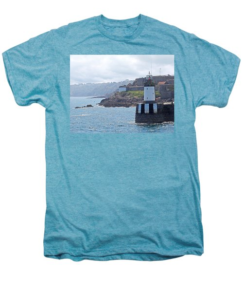 Guernsey Lighthouse Men's Premium T-Shirt by Gill Billington