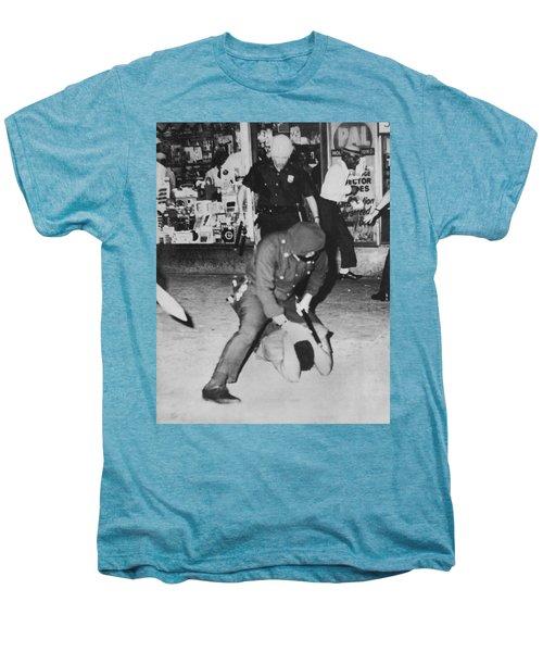 Harlem Race Riots Men's Premium T-Shirt by Underwood Archives