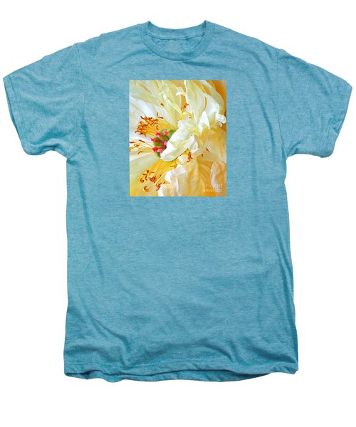 Men's Premium T-Shirt featuring the photograph Heart Of Peony by Nareeta Martin