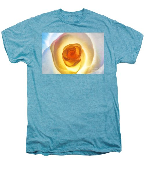 Heart Of The Rose Men's Premium T-Shirt by Peggy Hughes