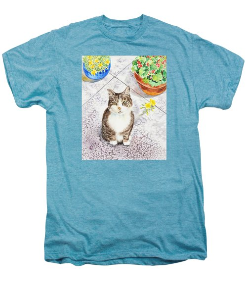 Here Kitty Kitty Kitty Men's Premium T-Shirt by Irina Sztukowski