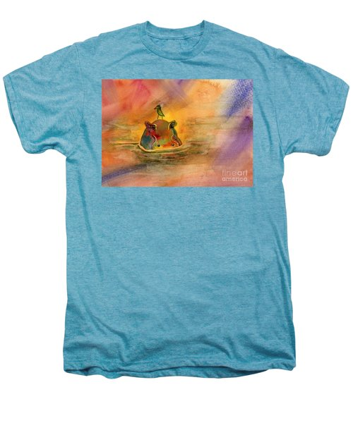 Hippo Birdie Men's Premium T-Shirt by Amy Kirkpatrick