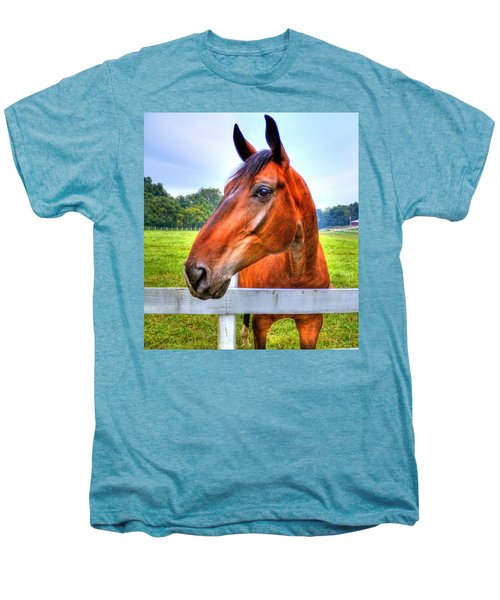 Horse Closeup Men's Premium T-Shirt