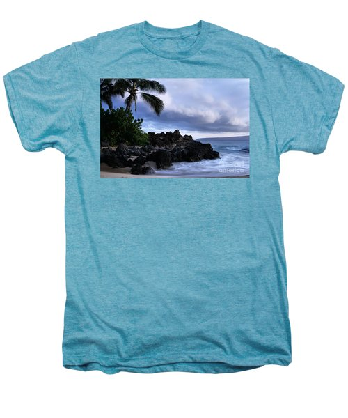 I Ke Kai Hawanawana Eia Kuu Lei Aloha - Paako Beach Maui Hawaii Men's Premium T-Shirt by Sharon Mau