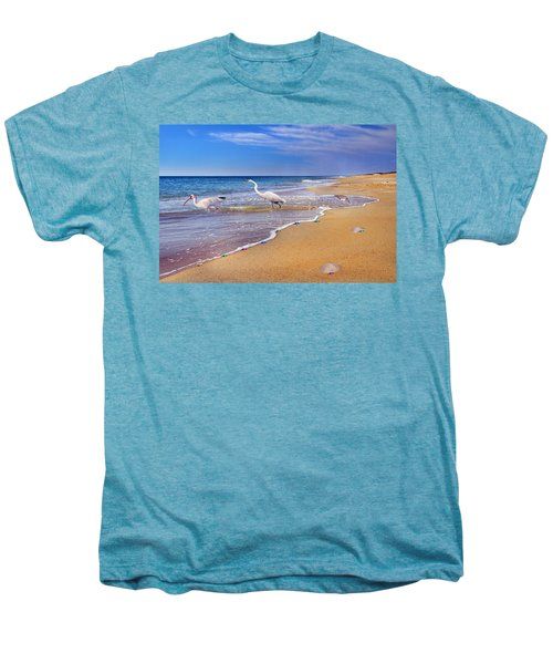 Inspiring Ibis Egret Sandpiper Starfish Sand Dollars  Men's Premium T-Shirt