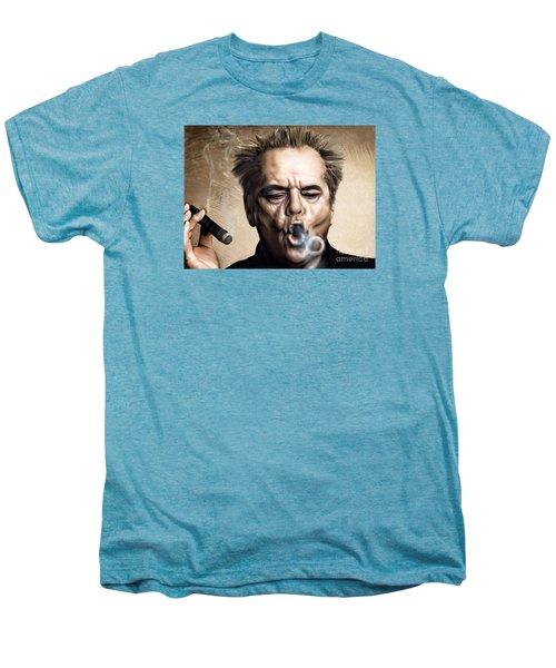 Jack Nicholson Men's Premium T-Shirt by Andrzej Szczerski