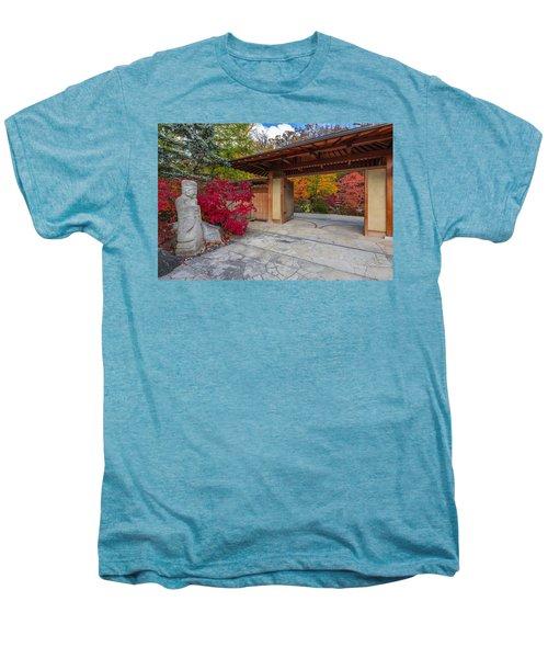 Men's Premium T-Shirt featuring the photograph Japanese Main Gate by Sebastian Musial