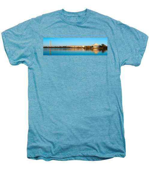 Jefferson Memorial And Washington Men's Premium T-Shirt by Panoramic Images