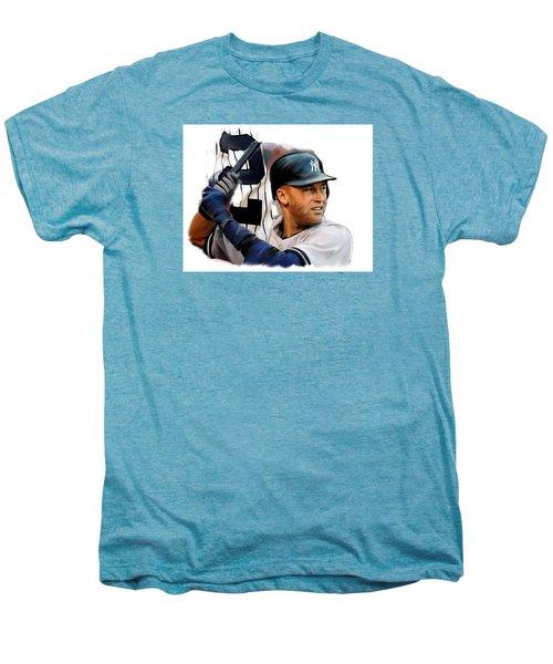 Jeter II  Derek Jeter Men's Premium T-Shirt by Iconic Images Art Gallery David Pucciarelli