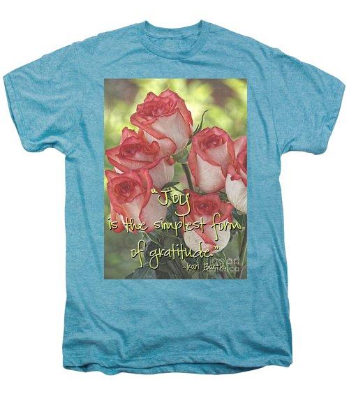 Joyful Gratitude Men's Premium T-Shirt by Peggy Hughes