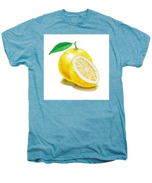 Men's Premium T-Shirt featuring the painting Juicy Grapefruit by Irina Sztukowski