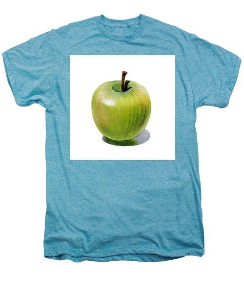 Men's Premium T-Shirt featuring the painting Juicy Green Apple by Irina Sztukowski
