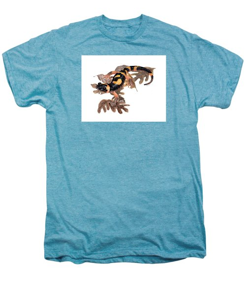 Large Blotched Salamander On Oak Leaves Men's Premium T-Shirt